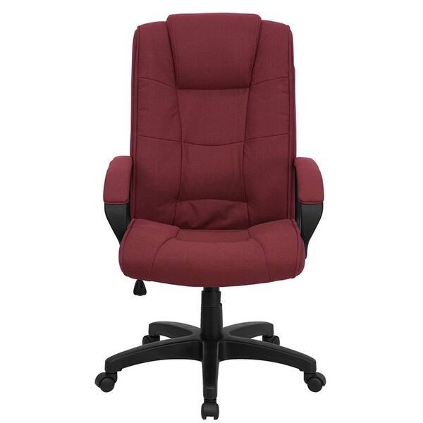 Amazing Shop Aberdeen High Back Burgundy Fabric Executive Swivel Pdpeps Interior Chair Design Pdpepsorg