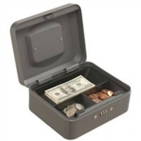 "Mintcraft TS0037 Cash Box With Combination Lock, 7.87""X6.3""X3.54"""