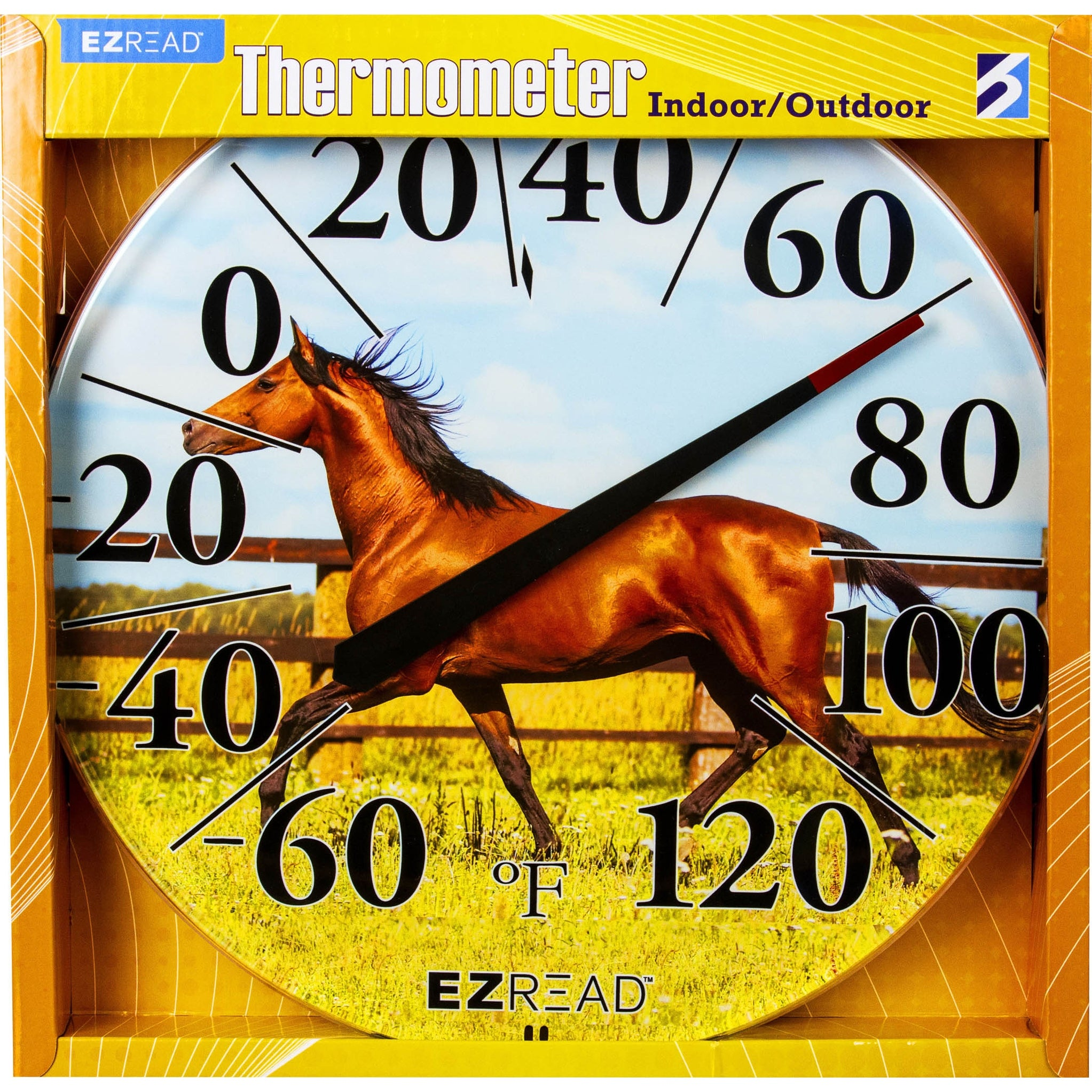 """12.5/"""" HORSE Indoor Outdoor Hanging Thermometer"""
