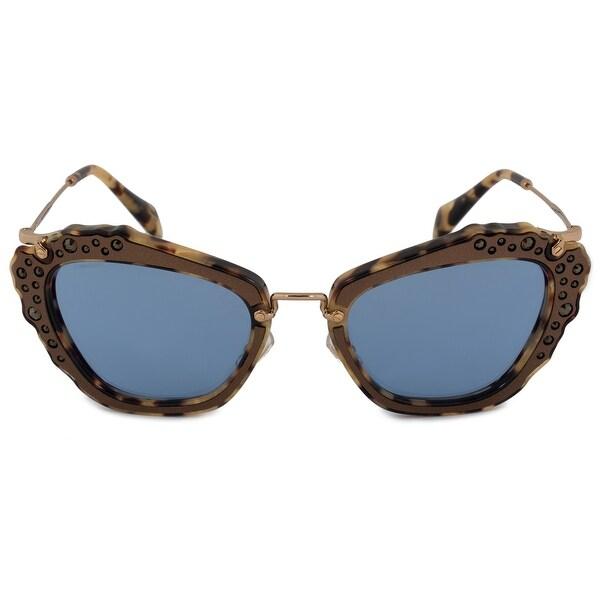 85b63a4aa47 Shop Miu Miu Noir Butterfly Sunglasses SMU04QS DHF0A2 55 - Free ...