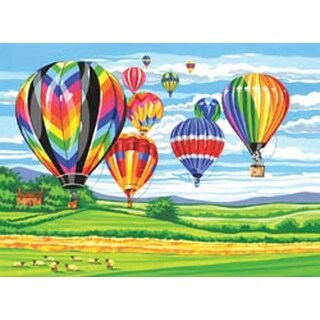 """Hot Air Balloons - Paint By Number Kit 12""""X16"""""""