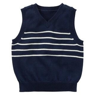 Carter's Baby Boys' Sweater Vest - Navy Stripe, 18 Months