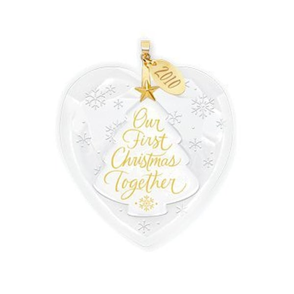 Hallmark Our First Christmas Ornament.Hallmark Keepsake Our First Christmas Together 2010 Ornament Glass Metal Decor