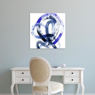 Easy Art Prints Grace Popp's 'Blue Kinesis IV' Premium Canvas Art