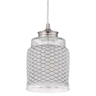 Craftmade P4601 1 Light Mini Pendant - 6.25 Inches Wide - Brushed nickel