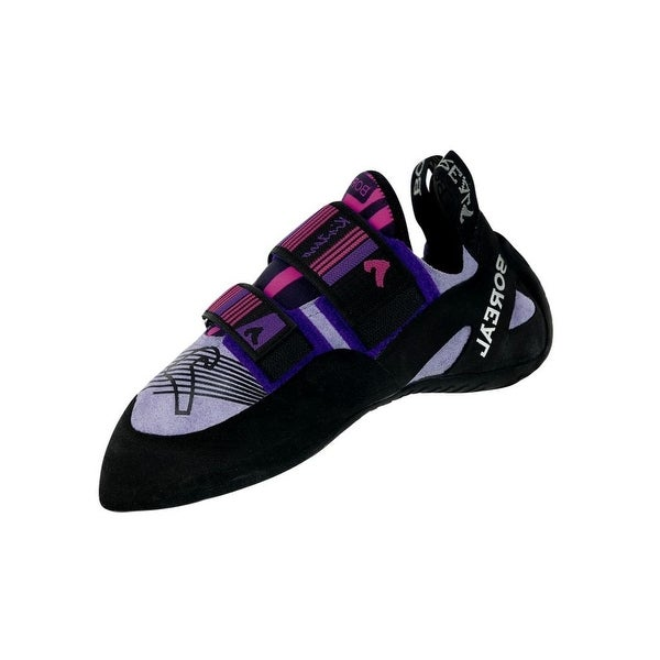 Boreal Climbing Shoes Womens Kintaro Leather Black Purple Pink