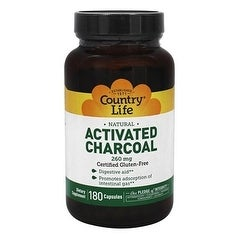 Country Life Vitamins Charcoal Larger Size 180 Capsules 180 Capsule