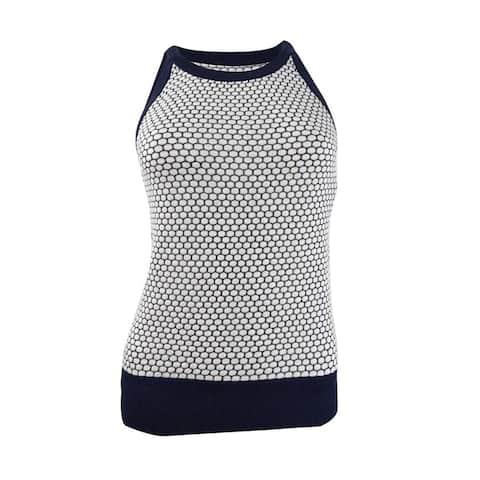 Maison Jules Women's Sleeveless Honeycomb Sweater