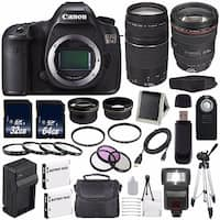 Canon EOS 5DS DSLR Camera (International Model) 0581C002 + Canon EF 24-105mm f/4L IS USM Lens + EF 75-300 III Bundle