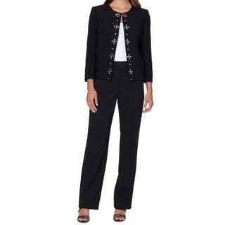 Tahari by ASL NEW Black Womens Size 4 Gemstone Blazer Pant Suit Set|https://ak1.ostkcdn.com/images/products/is/images/direct/622d0b11e977b274b8949915512e485eb67759a0/Tahari-by-ASL-NEW-Black-Womens-Size-4-Gemstone-Blazer-Pant-Suit-Set.jpg?impolicy=medium