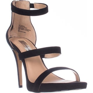 I35 Sadiee Strappy Dress Sandals, Black Suede