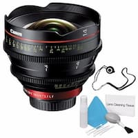 Canon CN-E 14mm T3.1 L F Cinema Prime Lens (EF Mount) (International Model) + Lens Cap Keeper Bundle