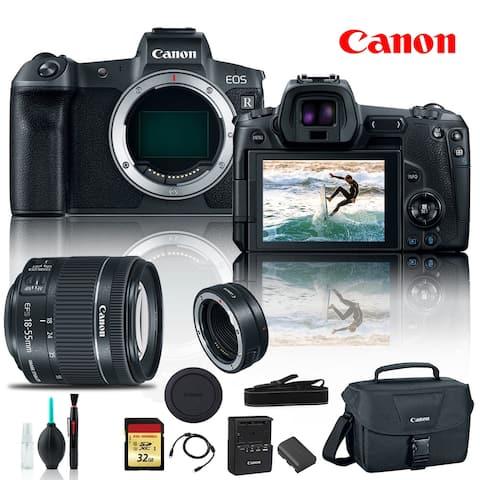 Canon EOS R Mirrorless Digital Camera 3075C002 +Canon EF Mount