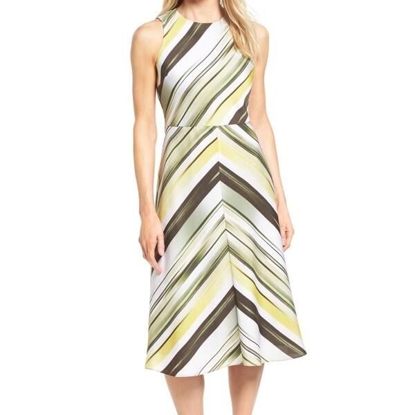 Classiques Entier Women's Striped Sheath Dress Silk