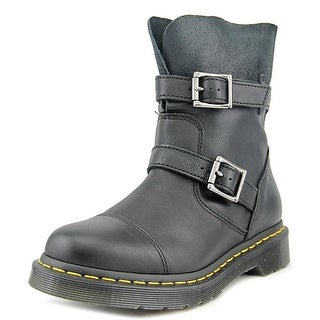 Dr. Martens Kristy Women Round Toe Leather Black Ankle Boot