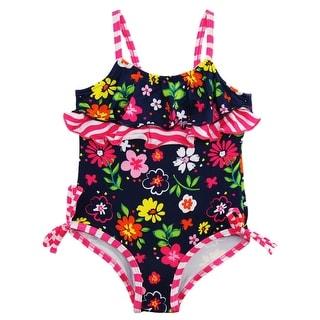 Pink Platinum Baby Girls' Garden Flowers One Piece Swimsuit