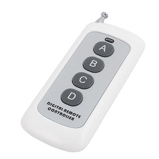200 Meters 4 Keys Plastic Shell Battery Powered Digital Remote Controller White