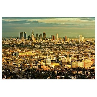 """Los Angeles cityscape"" Poster Print"