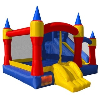 Cloud 9 Mighty Bounce House - Inflatable Royal Slide Jump Castle with Blower