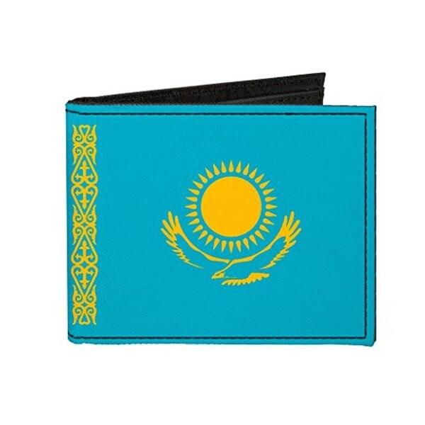 Buckle-Down Canvas Bi-fold Wallet - Kazakhstan Flag Accessory