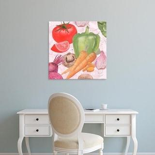 Easy Art Prints Leslie Mark's 'Veggie Medley II' Premium Canvas Art