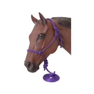 Tough-1 Halter Poly Nylon Rope Tied Fully Adjustable Horse Red