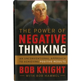 """Bob Knight Signed """"The Power of Negative Thinking"""" Book"""