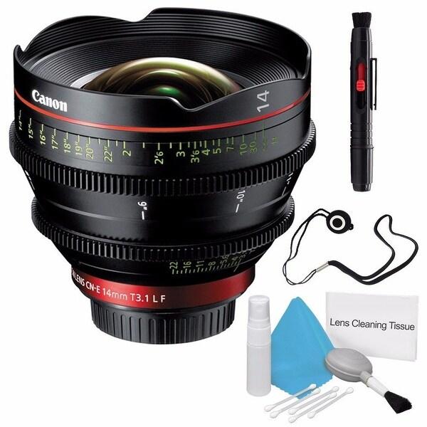 Canon CN-E 14mm T3.1 L F Cinema Prime Lens (EF Mount)(International Model) + Deluxe Cleaning Kit Bundle