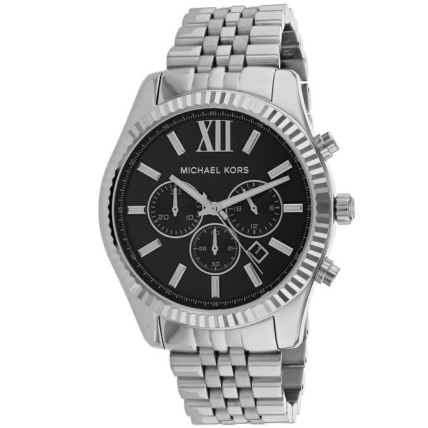6dcd5df24987 Shop Michael Kors Men s Lexington Black Dial Watch - Free Shipping Today -  Overstock - 25735208