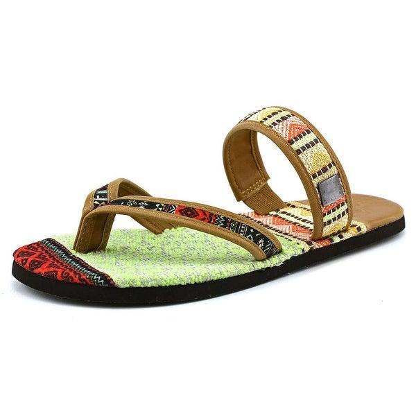 OTBT Cokato Women Open Toe Canvas Multi Color Slides Sandal