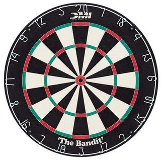 DMI Bandit Staple Free Bristle DARTBOARD, Durable 18 Inch Diameter DART BOARD