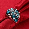 Rose Gold Multi-Blue Stone Ring - Thumbnail 3