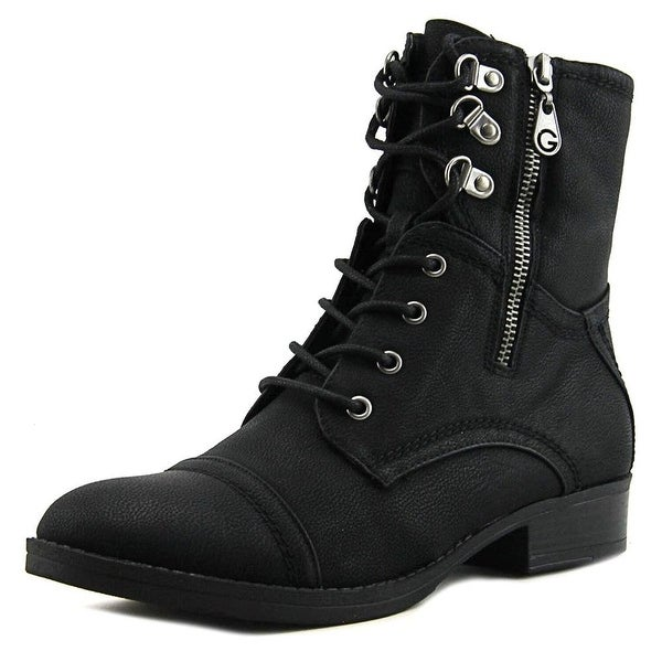 G by Guess Womens fleek Round Toe Ankle Combat Boots