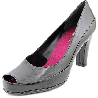A2 By Aerosoles Big Ben Women  Peep-Toe Synthetic Black Heels