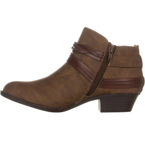 Madden Girl Womens Barty Fabric Almond Toe Ankle Fashion Boots