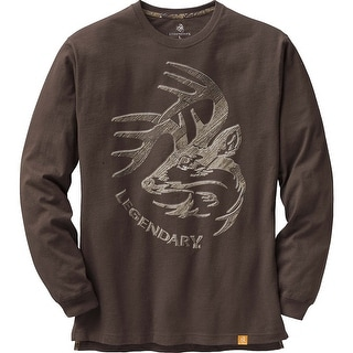Legendary Whitetails Men's Signature Series Long Sleeve T-Shirt - Chocolate