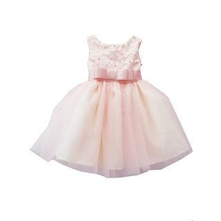 Sinai Kids Baby Girls Blush Floral Appliques Bow Flower Girl Dress 12-18M - 12-18 Months