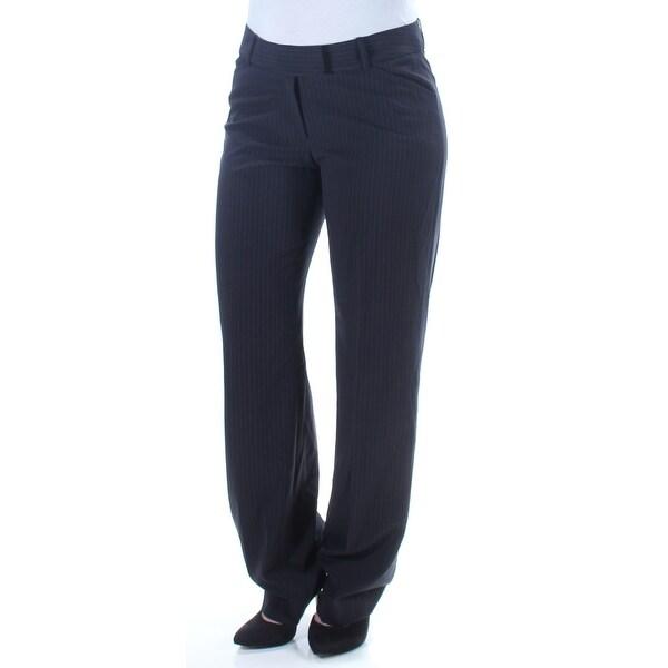 Shop Tahari Womens Black Pinstripe Straight Leg Wear To