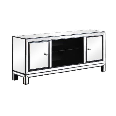 Black Titanium and Silver 2-door TV Console