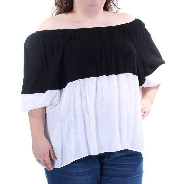 3fdd557c948c Shop Womens Black Short Sleeve Off Shoulder Casual Blouse Top Size XL -  Free Shipping On Orders Over  45 - Overstock.com - 23457439