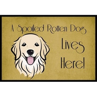 Carolines Treasures BB1453JMAT Golden Retriever Spoiled Dog Lives Here Indoor & Outdoor Mat 24 x 36 in.