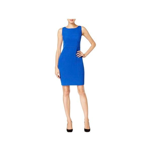 Shop Kasper Womens Petites Cocktail Dress Crepe Sleeveless