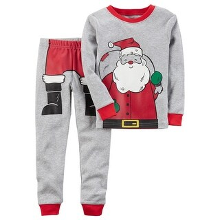 Carter's Little Boys' 2-Piece Santa Snug Fit Cotton PJs, 2-Toddler