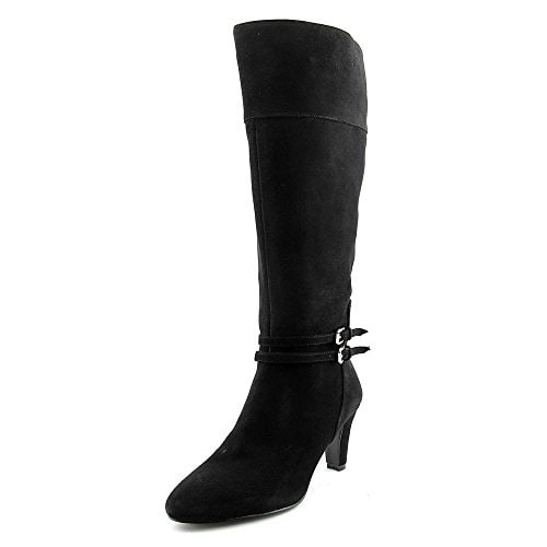 Bandolino Wiser Wide Calf Women Round Toe Leather Knee High Boot