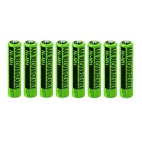 NiMH Premium AAA Size Rechargeable Replacement Batteries w/ High Capacity 1800mAh (8-Pack)