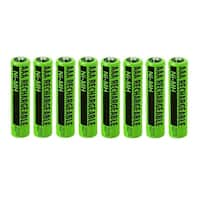 Replacement Panasonic KX-TGA652 NiMH Cordless Phone Battery - 630mAh / 1.2v (8 Pack)