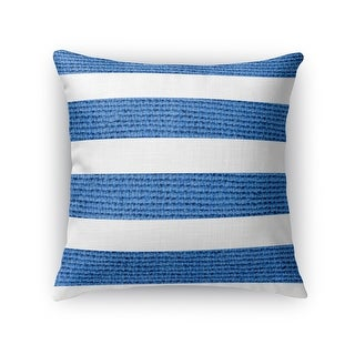 Kavka Designs blue/ white centerville accent pillow with insert