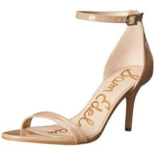 Sam Edelman Womens Patti Solid Ankle Strap Heels