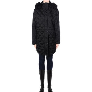 Lauren Ralph Lauren Womens Plus Quilted Down Puffer Coat