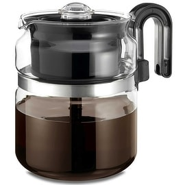 Medelco PK008 Glass Stovetop Percolator, 8 Cup